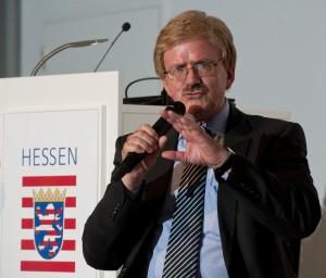 Thomas Mann, MdP/EVP, hier vor der hessischen CDU.
