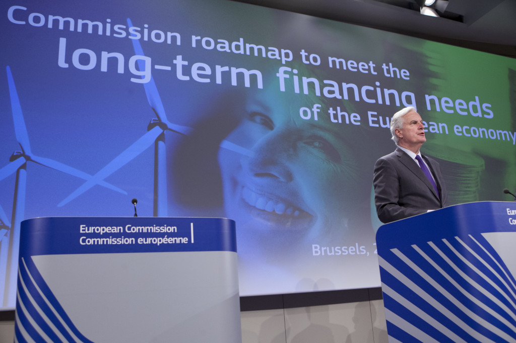 Binnenmarktkommissar Barnier bei der Vorlage der Richtlinie. Foto: Europäische Kommission