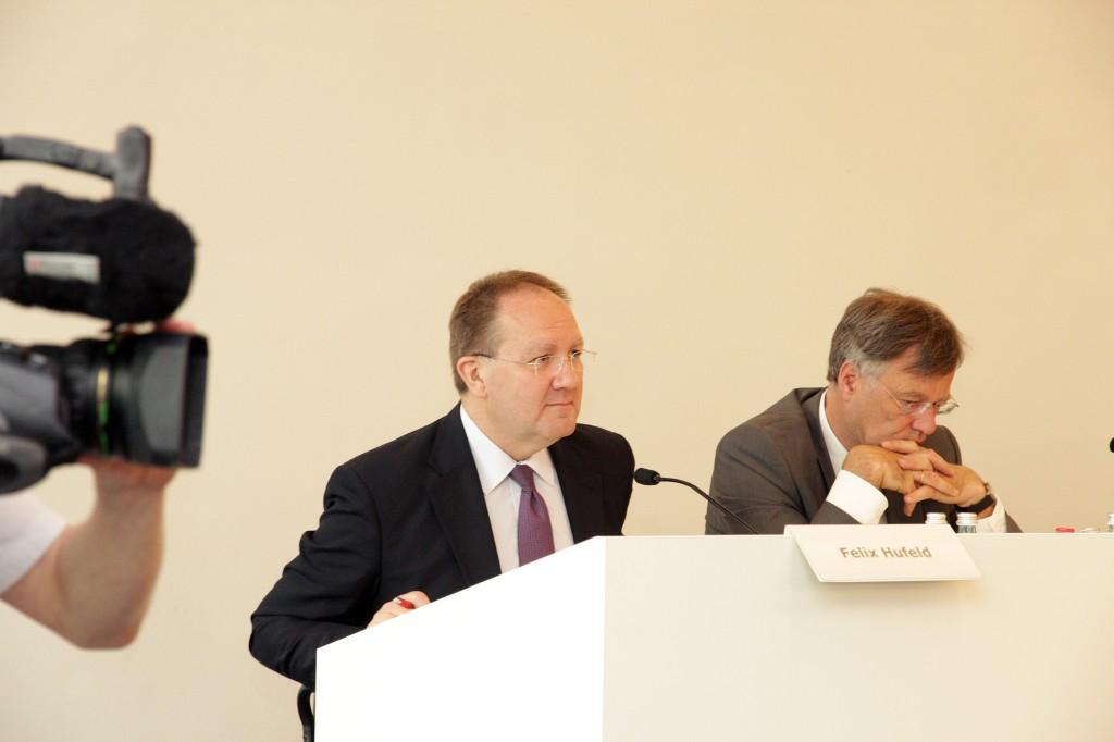 Felix Hufeld, seinerzeit Exekutivdirektor Versicherungsaufsicht, auf der Pressekonferenz der BaFin am 20. Mai 2014 in Frankfurt. Foto BaFin/Eschweiler