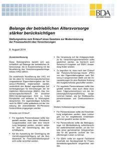Die Kommentierung der BDA im Original; zum Download anklicken