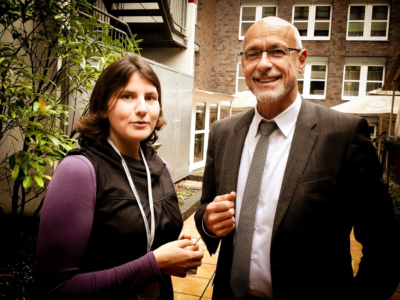 Barbara Ottawa und Heribert Karch auf der aba-Herbsttagung in Koeln
