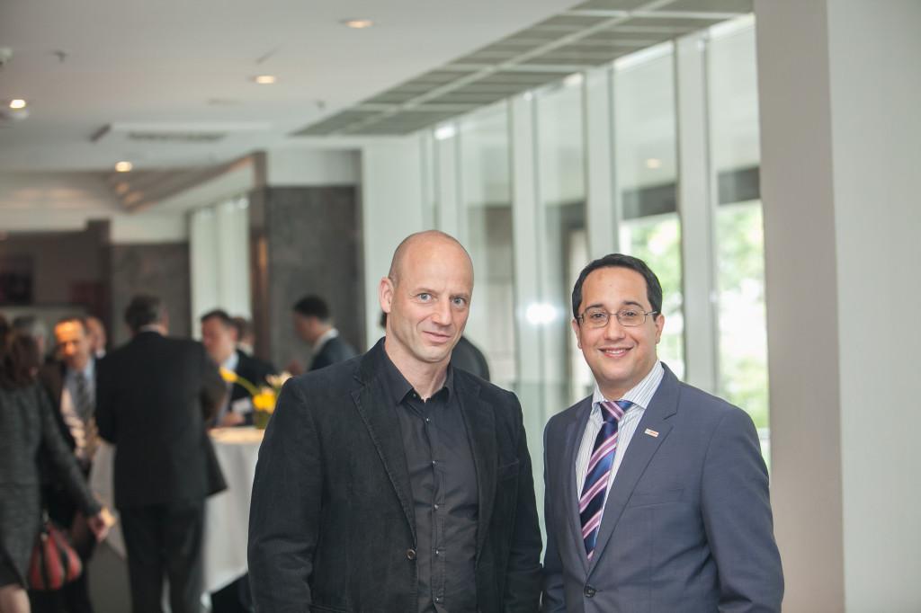 Pascal Bazzazi (li.) und Hansjoerg Muellerleile auf der TW-bAV-Tagung am 14. Oktober in Frankfurt