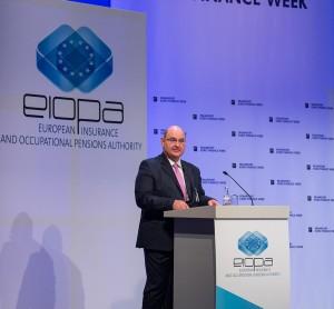 Gabriel Bernardino auf der EIOPA 4th Annual Conference in Frankfurt, November 2014. Foto: EIOPA Frankfurt.