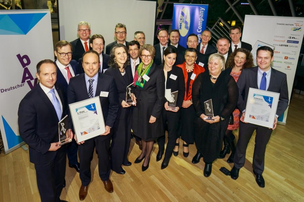 Preisträger und Jury des Deutschen bAV-Preises 2015. Foto: Rosenthal.