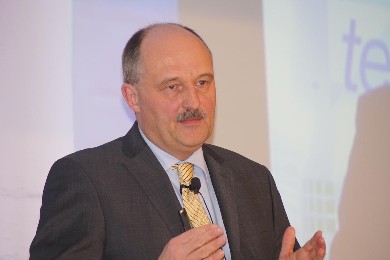 Michael Meister (CDU), parlamentarischer Staatssekretaer im BMF, auf der MCC-Tagung am 17. Februar 2016 in Berlin. Foto: Bruess.