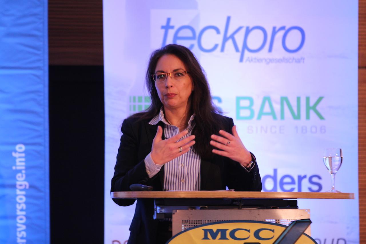 Yasmin Fahimi, beamtete Staatssekretärin im BMAS, auf der MCC-Tagung am 16. Februar 2016 in Berlin