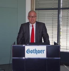 Matthias Birkwald (Die Linke MdB) auf der Fruehjahrstagung des VVB-Fachkreises bAV am 22. April 2016 in Koeln. Foto: Eberhardt Froitzheim.