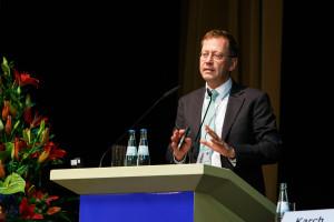Professor Dirk Kiesewetter auf der aba-Jahrestagung am 25. April 2016 in Berlin. Foto: Sandra Wildemann.
