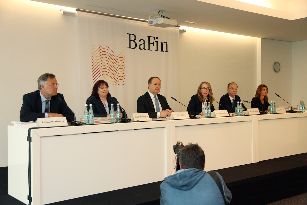 Pressekonferenz der BaFin am 10. Mai 2016 in Frankfurt am Main. Foto: Eschweiler / BaFin.