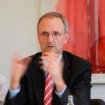 Alfred E. Gohdes auf der DAV-Pressekonferenz am 30. Juni 2016 in Koeln. Foto: Staschoefsky.