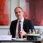 Friedemann Lucius auf der DAV-Pressekonferenz am 30. Juni 2016 in Koeln. Foto: Staschoefsky.