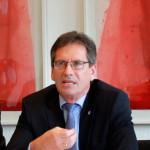 Wilhelm Schneemeier auf der DAV-Pressekonferenz am 30. Juni 2016 in Koeln. Foto: Staschoefsky.