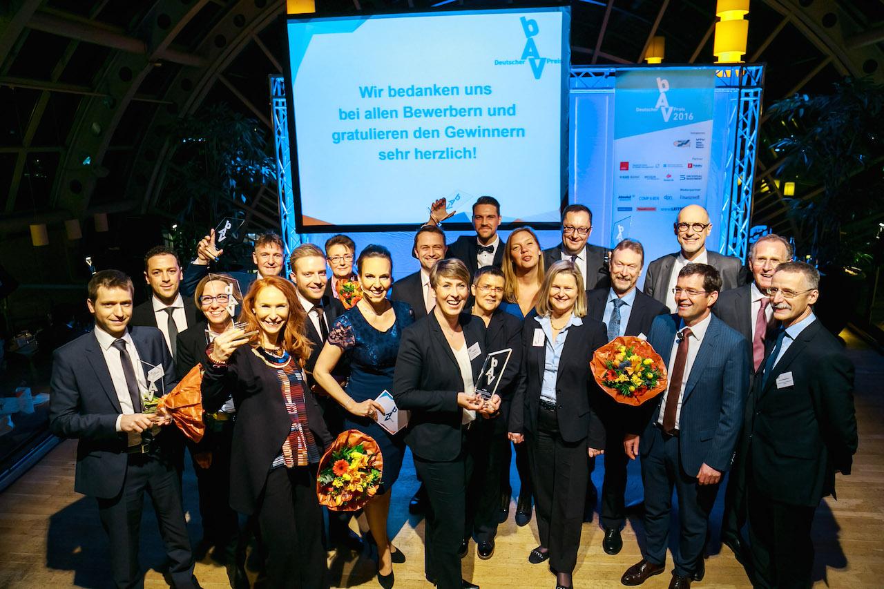 Die Preisverleihung des Deutschen bAV-Preises 2016 in Berlin.