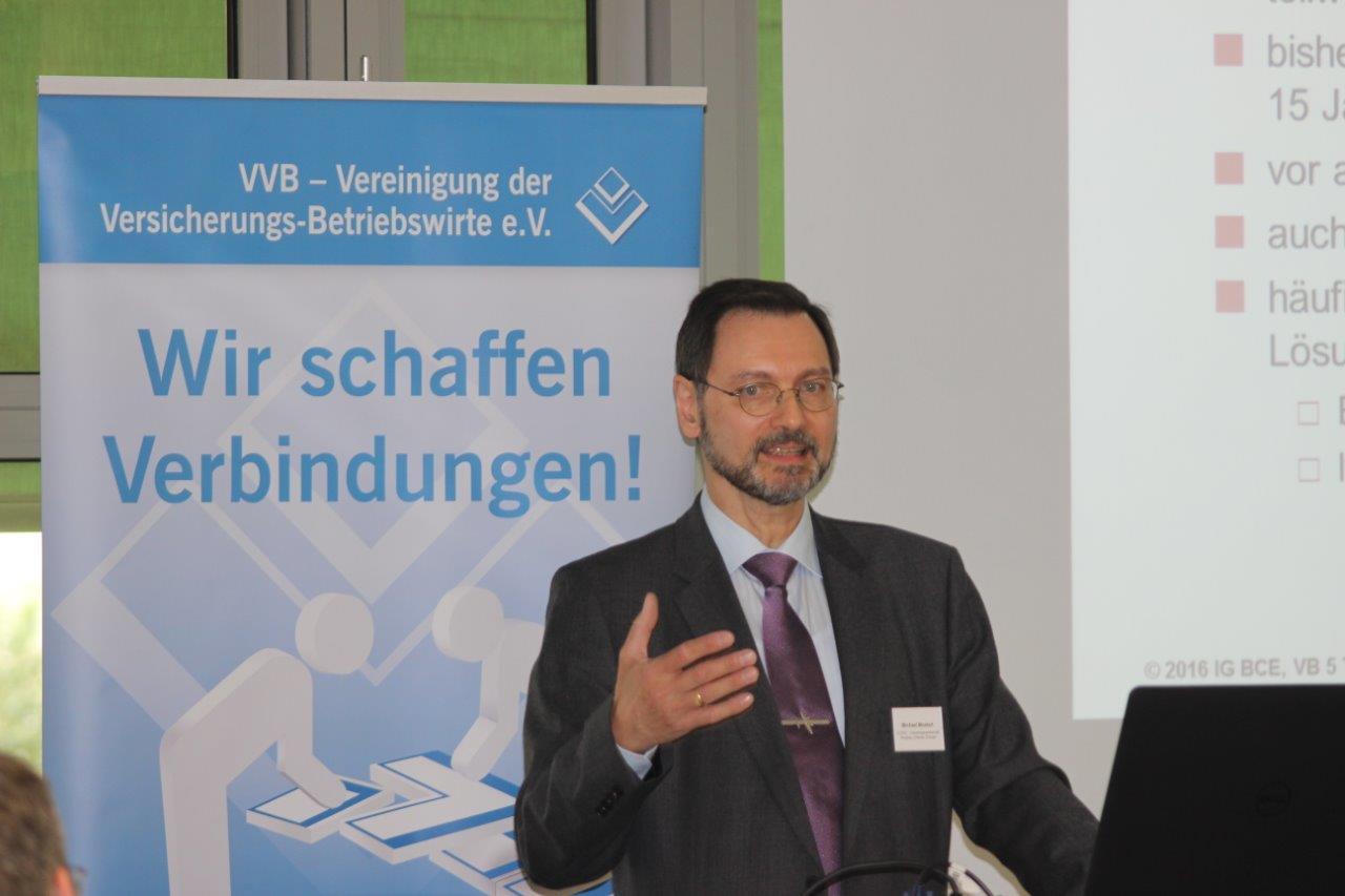 ... und Michael Mosert von der IG BCE auf der VBB-Herbsttagung des Fachkreises betriebliche Altersversorgung und Lebensversicherungen am 14. Oktober in Frankfurt am Main. Fotos: Klinger.