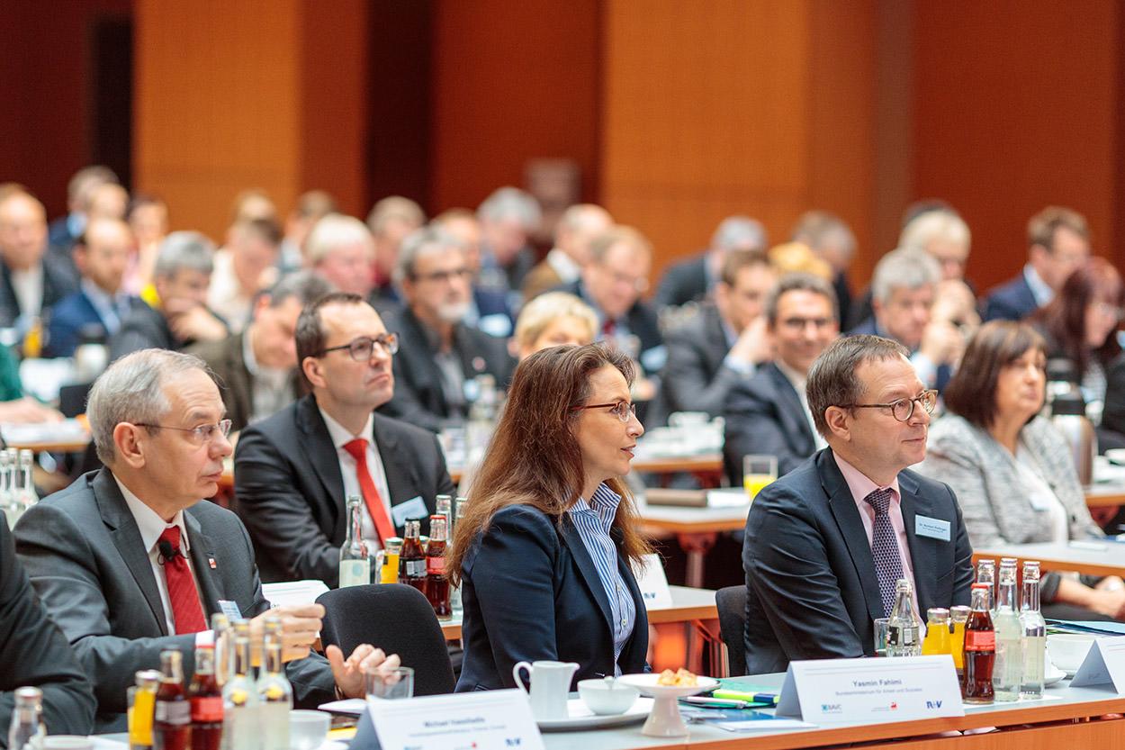 Das Publikum auf der Sozialpartnertagung der Chemie-Tarifpartner am 1. Februar 2017 in Berlin. Foto: Reinhardt & Sommer.