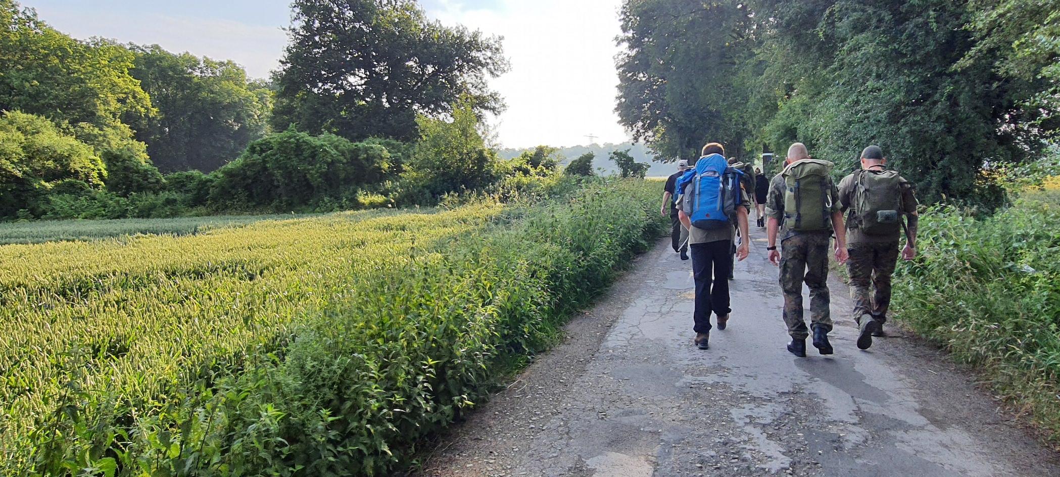 Die ersten Kilometer -