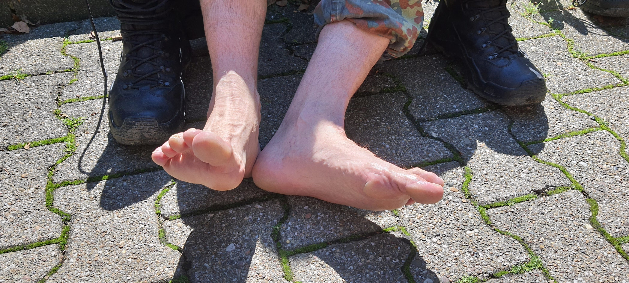 KM 14: Die Füße noch einwandfrei. Doch die -